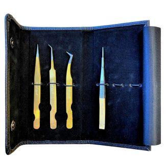Black Tweezers Flip Case For Eyelash Extensions by Pearl Lash