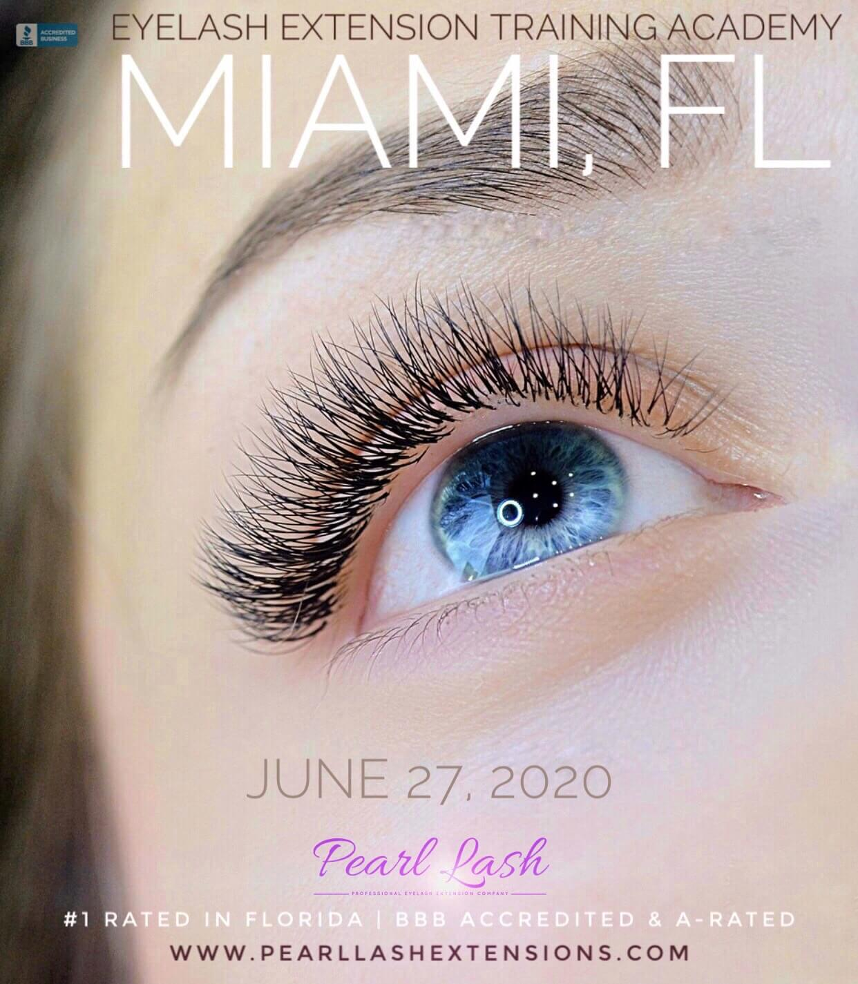 Eyelash Extension Training Pearl Lash Miami