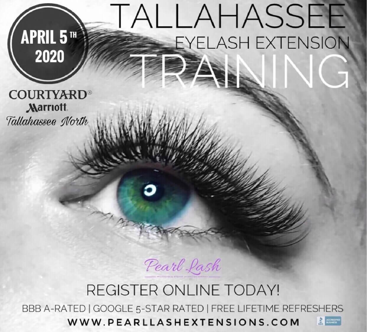 Eyelash Extension Training Tallahassee Pearl Lash