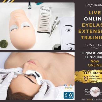 Live Online Virtual Eyelash Extension Training by Pearl Lash