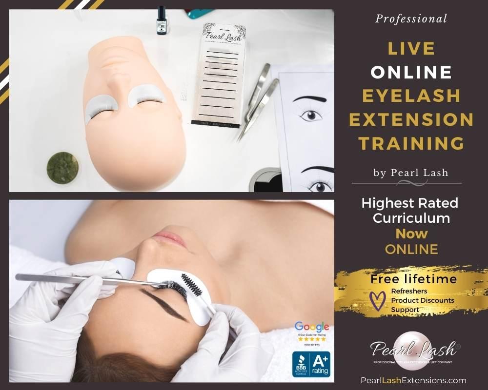 Live Online Virtual Eyelash Extension Training by Pearl Lash