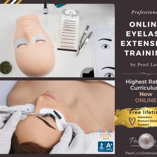 Online Eyelash Extension Training by Pearl Lash