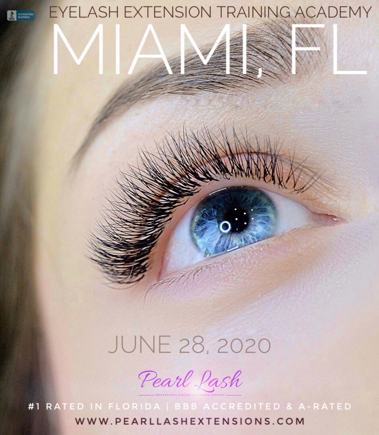 Miami Eyelash Extension Classic Training by Pearl Lash