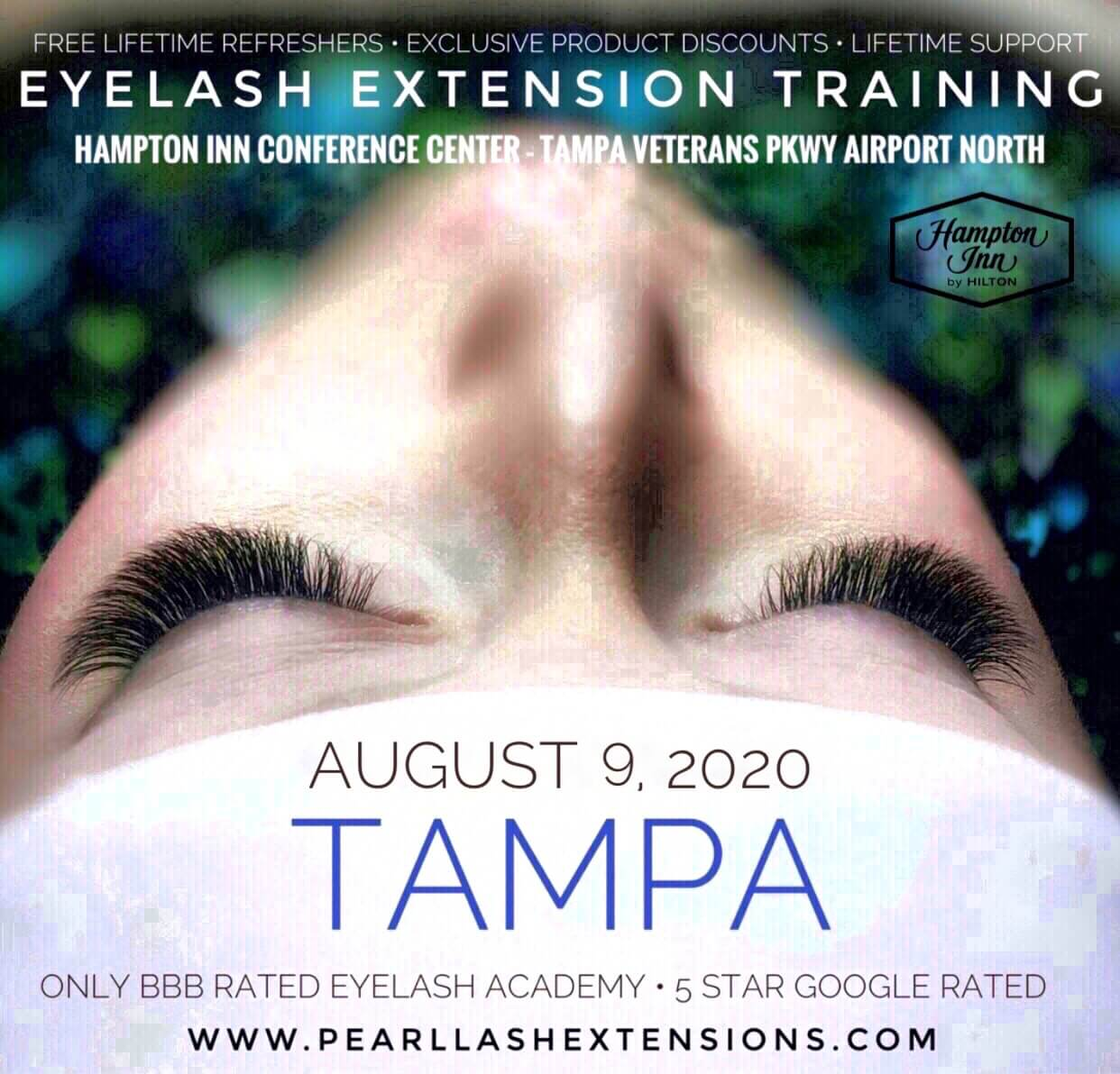 Eyalash Extension Classic Extension Training Tampa by Pearl Lash