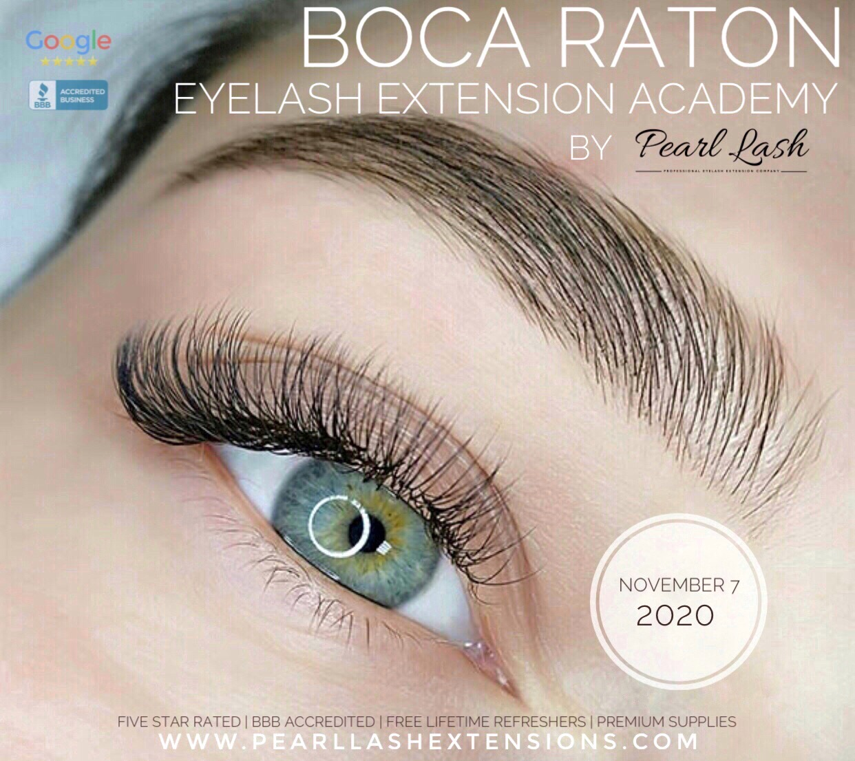 Classic Eyelash Extension Training Boca Raton by Pearl Lash