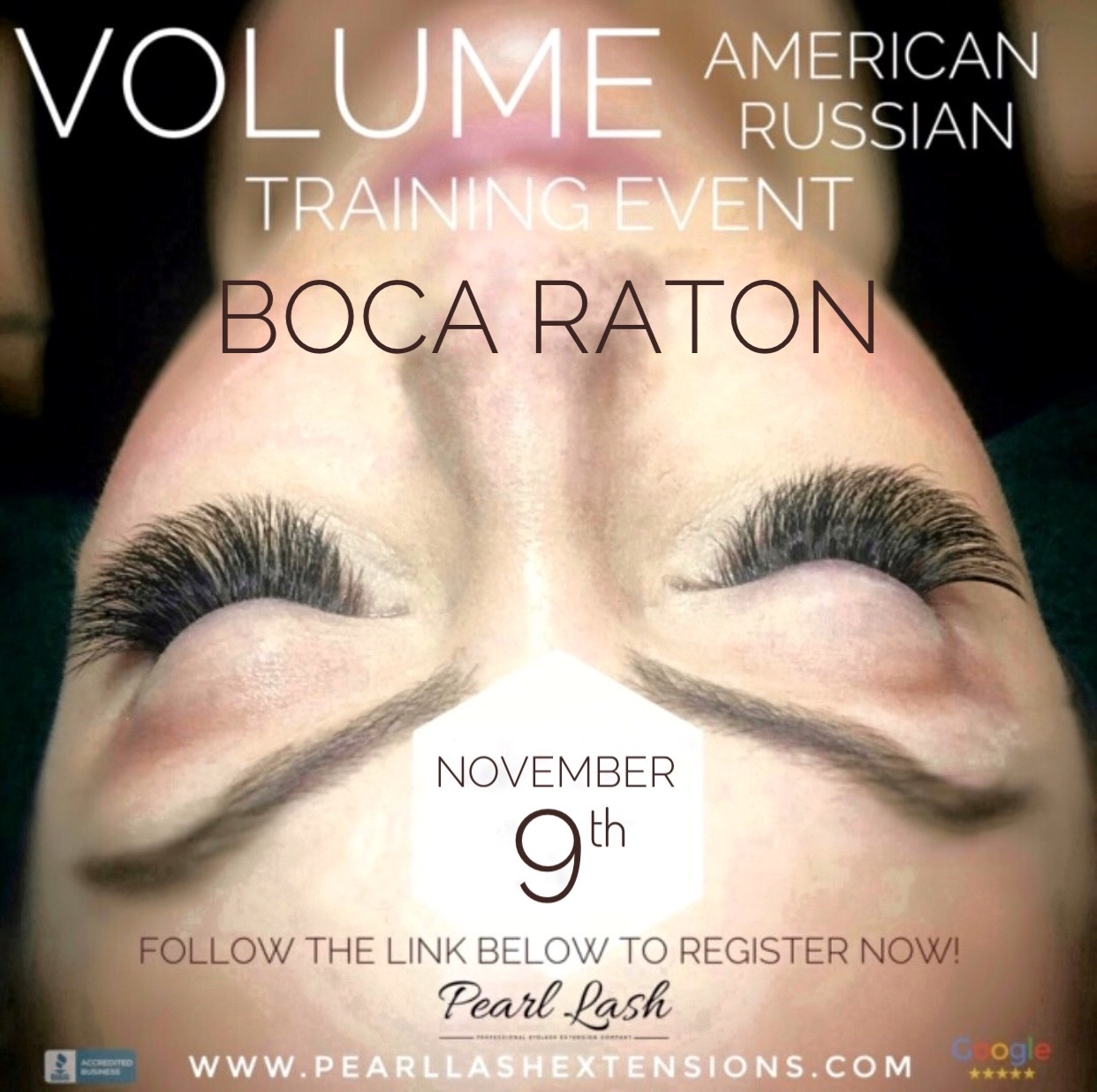 Volume Eyelash Extension Training by Pearl Lash Boca Raton