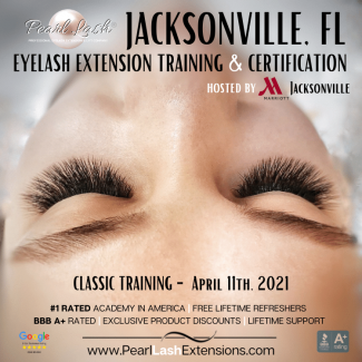 Eyelash Extension Training Academy Pearl Lash Jacksonville Florida