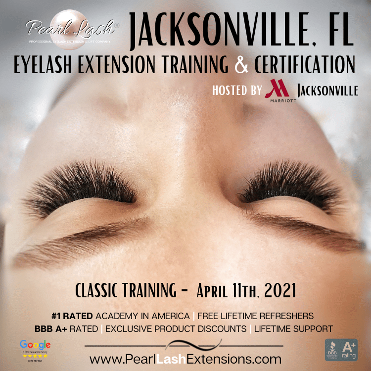 Eyelash Extension Training Academy Pearl Lash Jacksonville Florida
