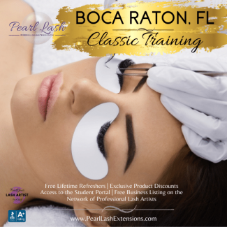 Boca Raton Eyelash Extension Training Academy Pearl Lash Florida